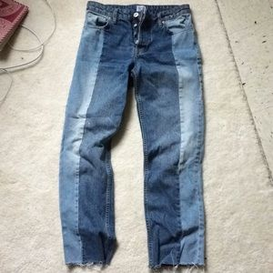 High rise two tone jeans urban outfitters